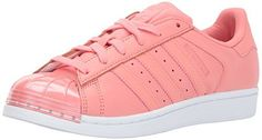 adidas Originals Womens Superstar Metal Toe W Skate Shoe Tactile RoseTactile RoseWhite 6 Medium US *** Want additional info? Click on the image. (This is an affiliate link)