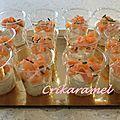 Mini verrines mousse de boursin et saumon fumé