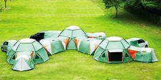 Cuando los enanos estén grandes acamparemos así!!
