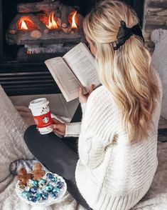 @rose_lining on Instagram // cozy style // cozy // by the fire // Winter outfits // Outfit ideas // sweater // chunky sweater // cream sweater // darling // lovely // hair bow // hair bow tie