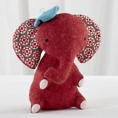 Kids Stuffed Animals: Hillary Land Wee Wonderfuls Elephant Doll in All Toys Knyazeva Lee how adorbz is his little beret? All Toys, Kids Toys, Toddler Gifts, Baby Gifts, Elephant Stuffed Animal, Stuffed Animals, Stuffed Toys, Baby Store, My Baby Girl