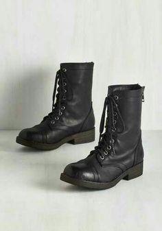 Combat boots- modcloth
