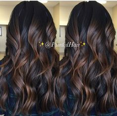 hairstyle ideas ideas 50 year old woman ideas black hair ideas dances ideas for guys ideas shoulder length hair ideas with braiding hair ideas 2018 Brown Hair Balayage, Hair Highlights, Black Hair With Brown Highlights, Chocolate Highlights, Black Balayage, Bayalage, Hair Color And Cut, Brown Hair Colors, Pretty Hairstyles