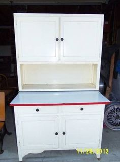 b>A Hoosier Cabinet by Scheirich Louisville, KY., with red and ...