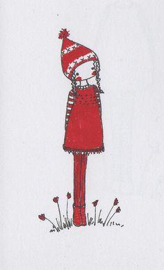 red girl by lili_popo, via Flickr