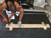 A homemade pull up bar.