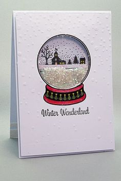 Diy christmas cards 369224869445308184 - Snow-globe Christmas shaker card, made with stamp set from Simply Cards & Papercraft magazine, issue, Source by ptownflorist Homemade Christmas Cards, Christmas Cards To Make, Xmas Cards, Diy Cards, Homemade Cards, Handmade Christmas, Holiday Cards, Christmas Diy, Images For Christmas