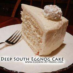 Deep South Eggnog Cake - Cooking at Home