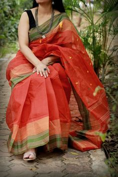 Sambalpuri Double Ikkat Cotton Silk Saree by Dvija Silk Sarees, Handloom Saree, Lehriya Saree, Kota Sarees, Chiffon Saree, Indian Sarees, Ethnic Fashion, Indian Fashion, Cotton Saree Blouse Designs