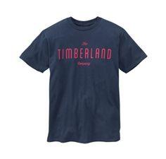 CAMISETA TIMBERLAND MEN'S SHORT SLEEVE TIMBERLAND COMPANY T-SHIRT MID BLUE #CAMISETA #TIMBERLAND