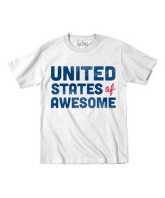 Look at this White 'United States of Awesome' Tee - Toddler & Kids on #zulily today!