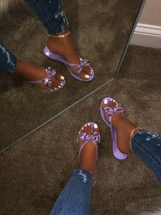 NEW 💕😻 Amara Sandal in Purple also available in Black Neon Yellow Nude and Gold 👀👏🏼🔥 all colors online now Jelly Sandals, Cute Sandals, Black Sandals, Shoes Sandals, Flats, Jelly Shoes, Summer Sandals, Dream Shoes, New Shoes