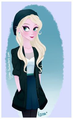 Hipster Elsa drawing