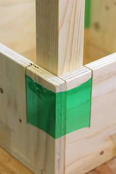 Soda Bottles Used as Heat-Shrink for Wood Joinery