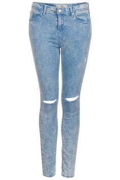 MOTO Ripped Baby Blue Leigh Jeans - Jeans  - Clothing