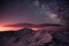 #Stars #Sky #Mountain #Snow