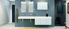 Pastel blåt stilrent design til dit bad - Model Mono Bathroom Gallery, Bathroom Spa, Bathroom Inspiration, Design Model, Bungalow, Sweet Home, Mirror, Interior, Furniture