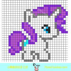 MLP Rarity perler bead pattern - PBead