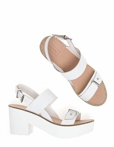 High heel sandals with track sole