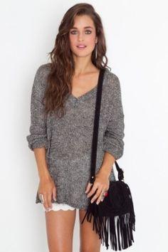 Fringe & oversized sweaters. by brandi