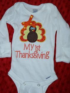 Hey, I found this really awesome Etsy listing at https://www.etsy.com/listing/183626325/baby-girl-first-thanksgiving-onesie