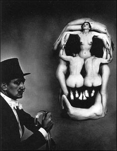 """sinuses: """"In Voluptas Mors, 1951. Photo: Philippe Halsman. (Used in the publicity of The Silence of the Lambs 1991 film) """""""