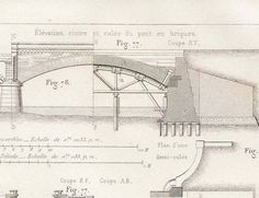 architectural drawings of bridges. 1872 French Antique Technical Drawing Ilmenau Bridge By Carambas Architectural Drawings Of Bridges