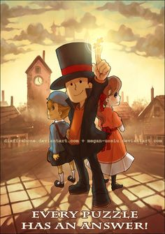 Professor Layton I LOVE PINTEREST SO MUCH! :DDDDDDDDD THIS IS BEAUTIFUL!!!!!