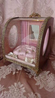Delicious French pink wedding display presentation casket from frenchfadedgrandeur on Ruby Lane