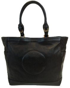 ef78784aa273 Tory Burch Kipp Pebbled Leather Tote in Black Black Leather Tote Bag