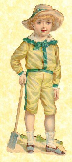 Victorian Scraps 4 Children Part Set Tuck Giant Relief No 521 Approx 17 x 7 Cm | eBay: