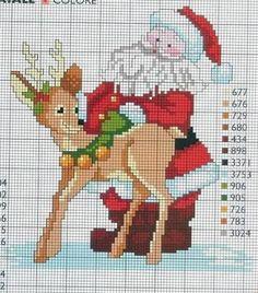 Resultado de imagem para ponto cruz motivos natalinos graficos