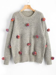 GET $50 NOW | Join Zaful: Get YOUR $50 NOW!https://m.zaful.com/heathered-colorful-pompoms-sweater-p_443497.html?seid=6326499zf443497