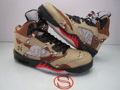 11144c6e8a8fa6 Details about Nike Air Jordan V 5 Retro SUPREME Camo size 10 VNDS wings DB  Doernbecher worn 2X