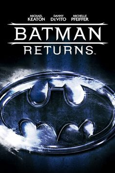 Batman Returns Movie Poster - Michael Keaton, Danny DeVito, Michelle Pfeiffer  #BatmanReturns, #MoviePoster, #ActionAdventure, #TimBurton, #DannyDeVito, #MichaelKeaton, #MichellePfeiffer