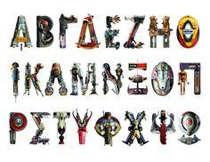Παλιά παιχνίδια συνθέτουν τα γράμματα της αλφαβήτου Toyphabet από τον Βίκτωρα Κοέν.