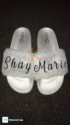 buy online 13a0d 1ec2d These 1 PAIR of Custom Personalized Slides are made to Order. Custom  Choices are   Nike ...