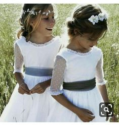 Waiting for the bride. Don't forget to thank your little helpers on the day with a gift from the Molly Brown London Bridesmaid Jewellery Collections Little Girl Dresses, Flower Girl Dresses, Flower Girls, Communion Hairstyles, Baptism Dress, Communion Dresses, Wedding With Kids, Kind Mode, Marie
