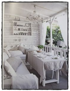 like the white-washed outside walls.  How fast would the furniture get dirty, though?