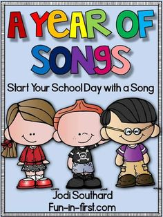 I try to find ways to incorporate it throughout our school day. It is such an amazing learning tool. My Songs for the Year packet is the perfect tool for any primary classroom. I love using songs during our school day! Kids LOVE to si First Grade Classroom, Primary Classroom, Music Classroom, Kindergarten Classroom, Songs For The Classroom, Classroom Ideas, Circus Classroom, Kindergarten Centers, Classroom Behavior