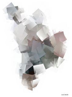 """Krystal Multier en del af """"krystal serien"""" hvor Julie Munk har reflekteret overkrystallens form og farver.Mål: A3. Printet på 180 g. mat papir."""