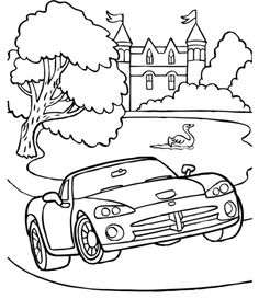 dodge viper drag coloring page