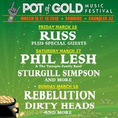 4th Annual Pot Of Gold Music Festival Mar. 16 – 18