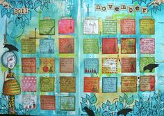 kate crane artist | Keep a monthly visual art journal to include a thought for the day or to record a special remembrance.  Cute and a great idea.