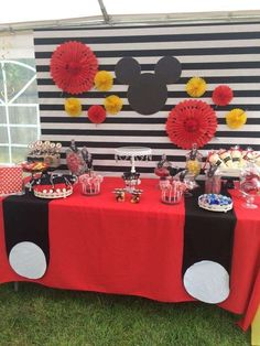 "Mickey Mouse / Birthday ""Angels first birthday party "" Mickey Mouse Theme Party, Minnie Y Mickey Mouse, Mickey 1st Birthdays, Fiesta Mickey Mouse, Mickey Mouse First Birthday, Mickey Mouse Baby Shower, Mickey Mouse Clubhouse Birthday Party, First Birthday Parties, 2nd Birthday"