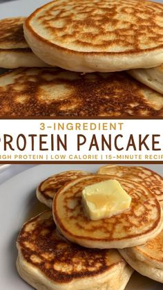 Healthy High Protein Meals, High Protein Low Carb, High Protein Recipes, Low Calorie Recipes, Quick High Protein Breakfast, High Protien Foods, Good Protein Foods, Healthy Protein Pancakes, Healthy Food