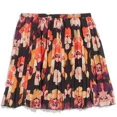 Madewell MADEWELL Poet Skirt In Mirrorflower Print (€89) ❤ liked on Polyvore featuring skirts, mini skirts, bottoms, saias, faldas, print mini skirt, full skirt, long print skirt, chiffon skirt and short full skirt