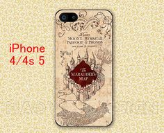 Harry Potter Marauders Ma iPhone 4 case Harry Potter iPhone 5 case Harry Potter Phone 4 case iPhone 4 4s 5 case Hard/Rubber by haoyoudesign, $6.99