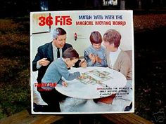 36 Fits board game.  My brother and I loved playing this when we were young.