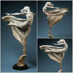 """Ascending"" Beautiful Sculpture by Karl Jensen"
